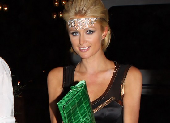 Paris Hilton green