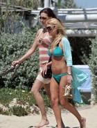 Tara Reid blue bikini