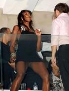 Naomi Campbell pussy upskirt
