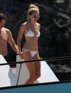 Sienna Miller white bikini