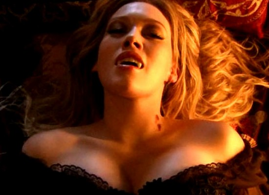Hilary Duff sexy vampire. Sweet Christmas, I have got to start watching ...
