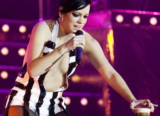 Lily Allen cleavage
