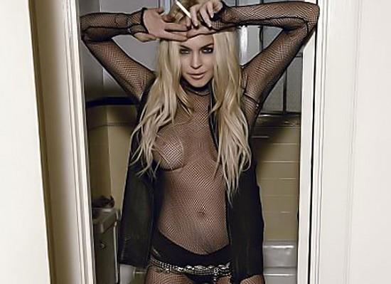 Lindsay Lohan topless