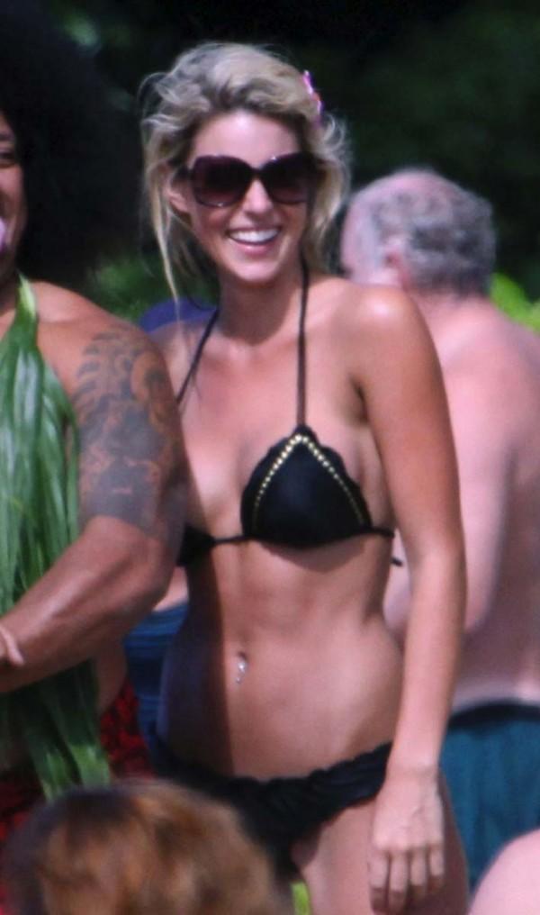 Carrie Prejean Nipple Slip Bikini
