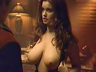 Carrie Stevens Exposes Her Big Breasts