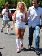 Britney Spears short shorts