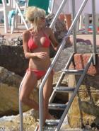 Victoria Silvstedt red bikini