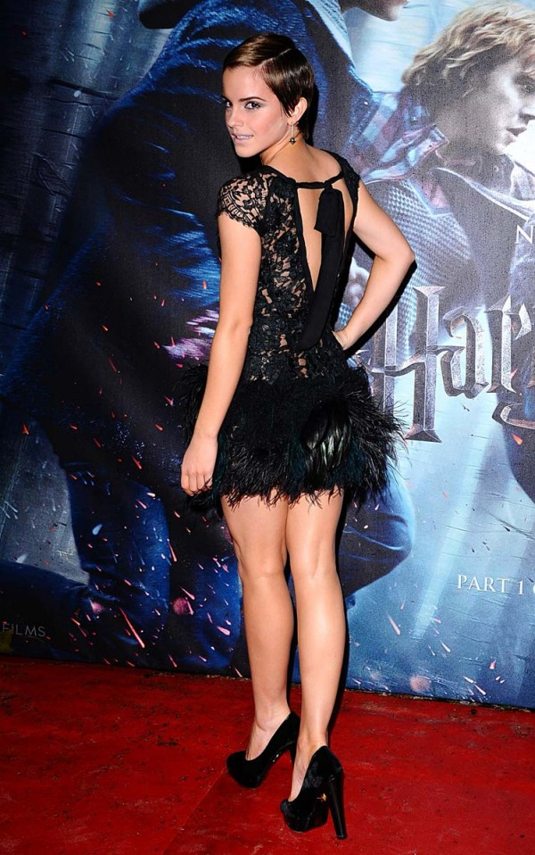 Emma Watson see thru harry potter premiere