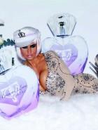 Katie Price boobs promotes perfume