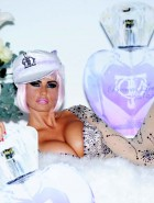 Katie Price boobs promotes perfume