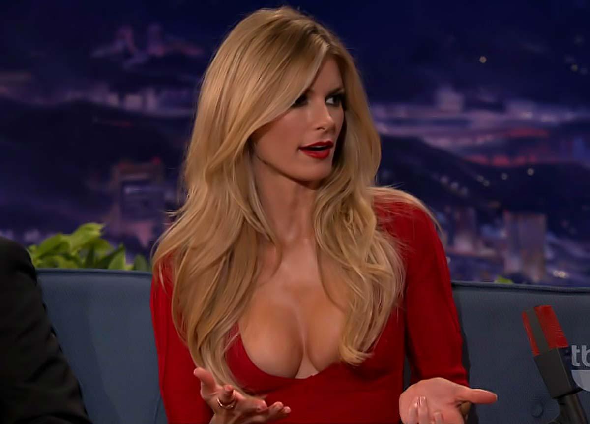 red dress Scarlett johansson cleavage