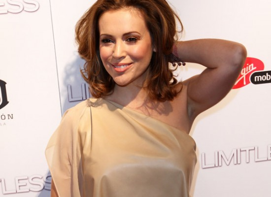 Maybe Alyssa Milano boobs are a sign that she is future mom, ...