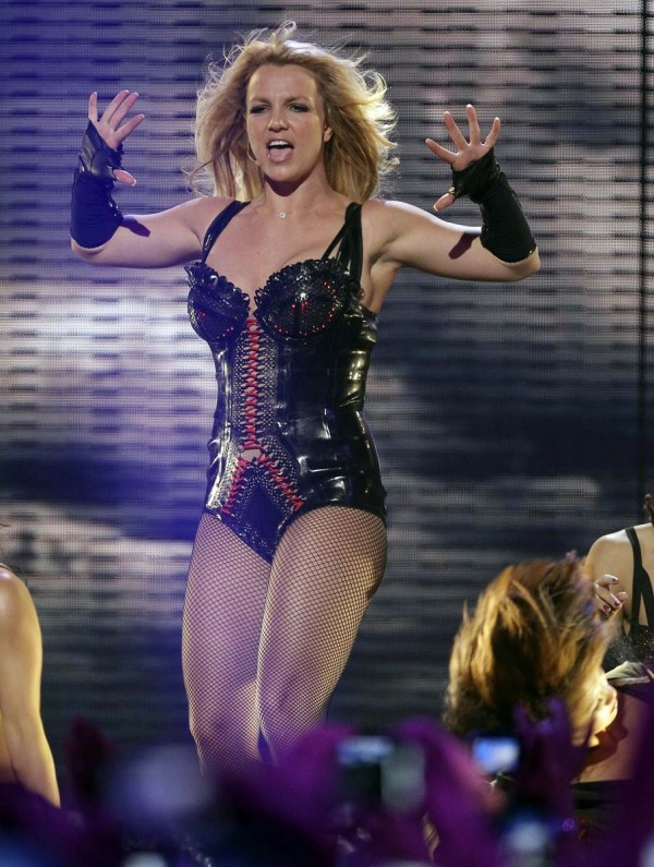 Britney Spears hot performing