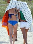 Lindsay Lohan oops boos slip in a bikini