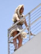 Lindsay Lohan oops boob slip upskirt