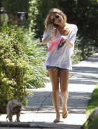 Kristin Cavallari walking dog