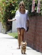 Kristin Cavallari walking dog