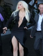 Lady Gaga braless cleavage