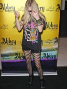 Avril Lavigne stockings