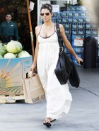 Halle Berry cleavage shopping