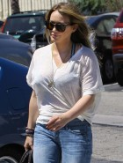 Hilary Duff pregnant curves
