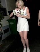 Lindsay Lohan upskirt cleavage