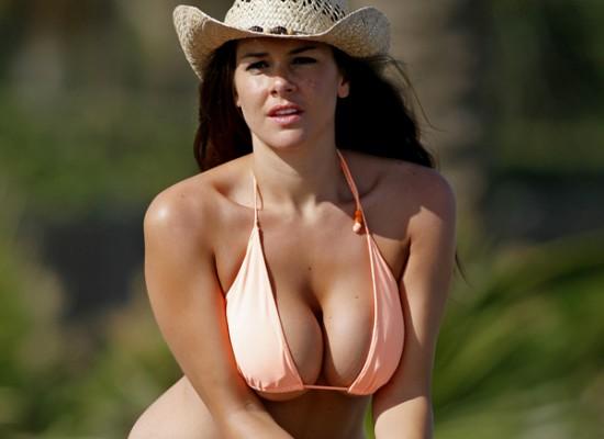 Imogen Thomas Busty Bikini Pictures