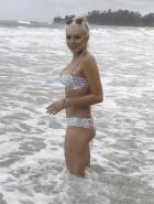Lindsay Lohan bikini nipple slip
