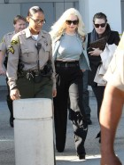 Lindsay Lohan arrives court
