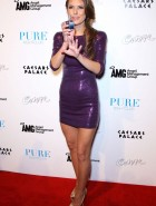Audrina Patridge purple dress