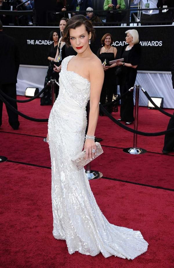 Milla Jovovich 84th annual academy awards