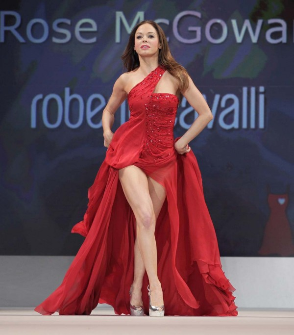 Rose McGowan red dress
