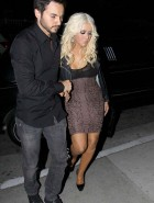 Christina Aguilera drunk cleavage