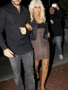 Christina Aguilera drunk cleavage