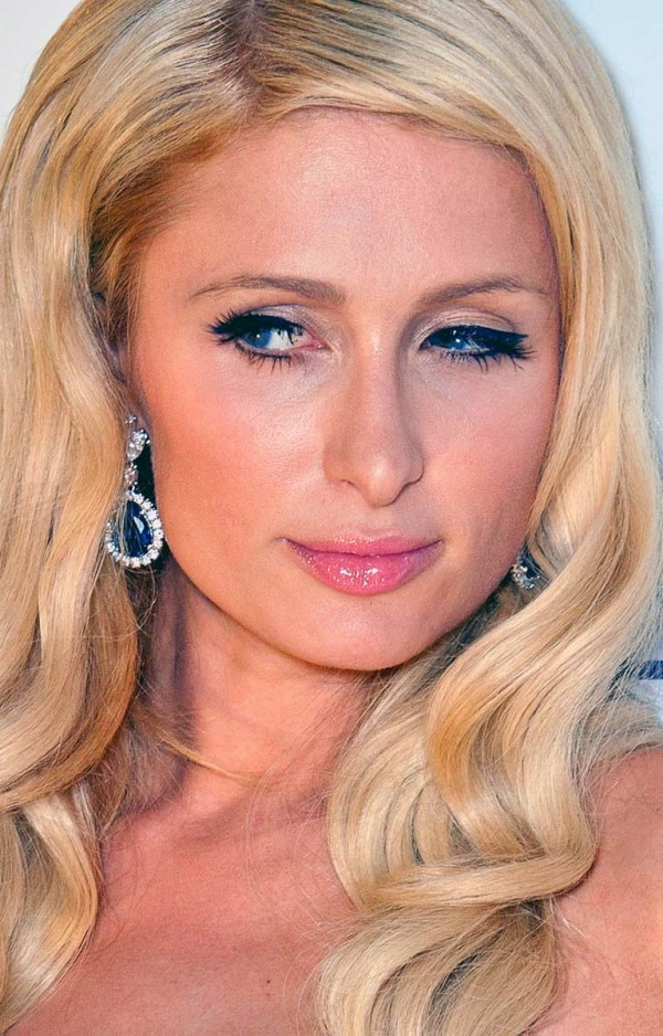 Paris Hilton lazy eyes