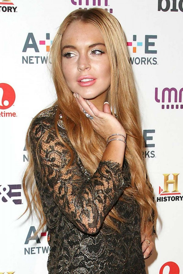 Lindsay Lohan weird
