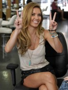Audrina Patridge leather