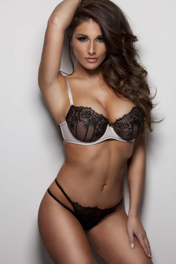 Lucy Pinder frank white lingerie
