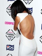 Nicole Scherzinger back dress