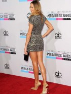 Stacy Keibler silver dress