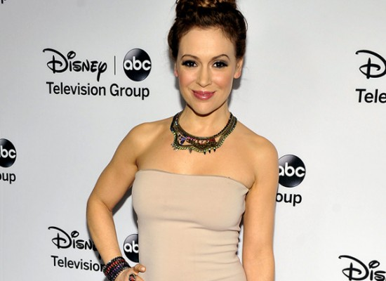 Alyssa Milano tight dress