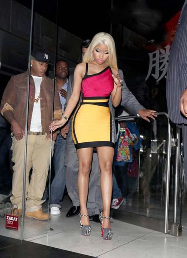 Nicki Minaj tight dress