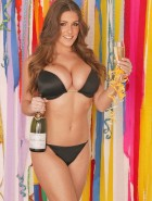Lucy Pinder new year studio