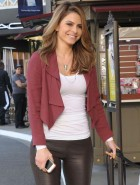 Maria Menounos leather booty