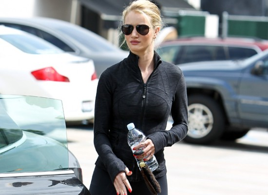 Rosie Huntington-Whiteley gym
