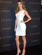 Stacy Keibler white dress
