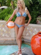 Holly Madison bikini tao