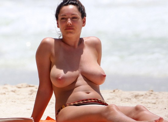 Kelly Brook topless bikini