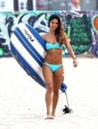 Leilani Dowding bikini surfing