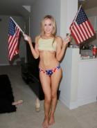 Paula Labaredas flag bikini